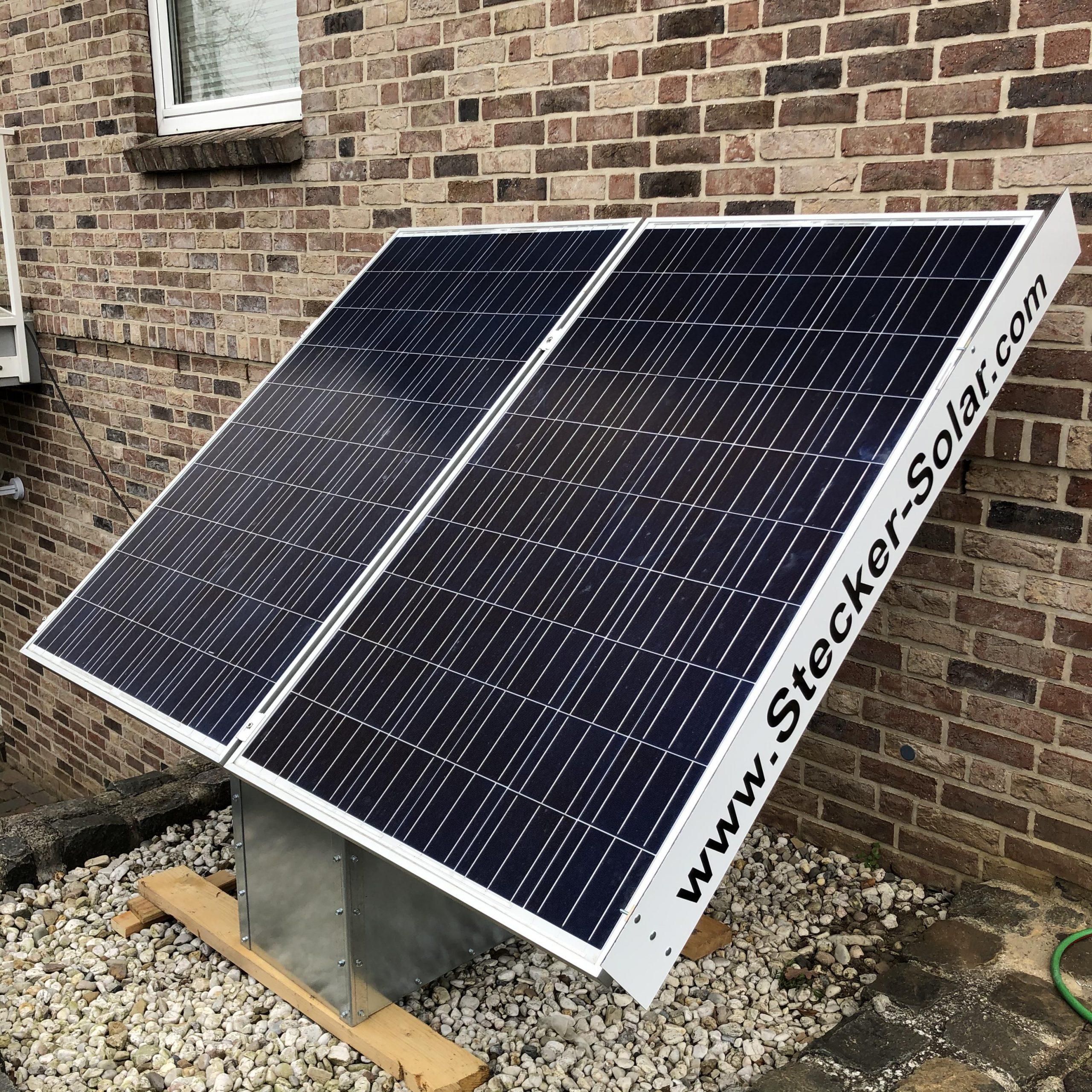 Stecker Solaranlage für den Garten